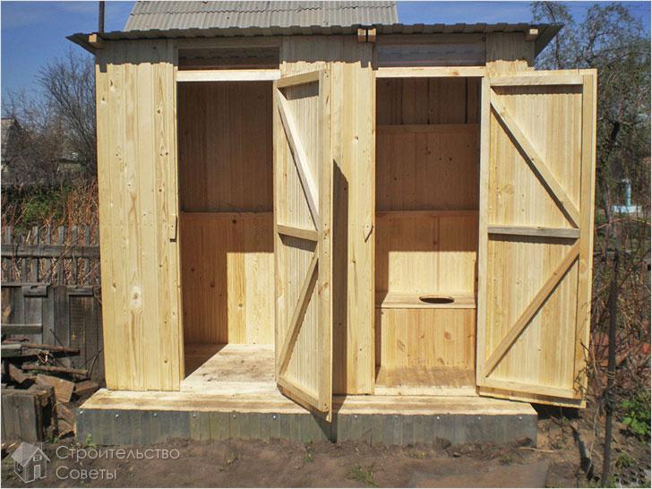 Строим душ и туалет на даче своими руками